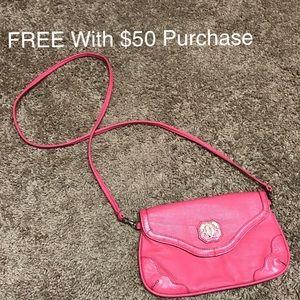 Handbags - Sharif Hot Pink Leather Cross Body Bag